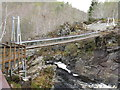 NH4458 : Falls of Rogie suspension bridge by M J Richardson