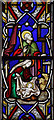 TR2146 : St Mary Magdalene, Denton - Stained glass window by John Salmon