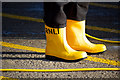 J5082 : Yellow boots, Bangor by Rossographer