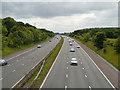 SJ6884 : M56 (West) from Mag Lane Bridge by David Dixon