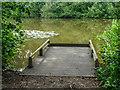 TQ2897 : Fishing Stand, Lake, Trent Park, Cockfosters, Hertfordshire by Christine Matthews