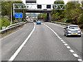SP1986 : Signal Gantry and Bridge, M42/M6 Interchange by David Dixon