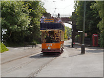 SK3455 : Glasgow Tramcar approaching Victoria Park by David Dixon