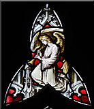 TQ3084 : St Andrew, Thornhill Square, Barnsbury - Stained glass window by John Salmon