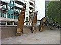 TQ3078 : White Hart Dock: boat sculptures by Hugh Craddock