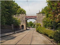 SK3455 : The Bowes-Lyon Bridge Crich Tramway Village by David Dixon