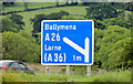 D1203 : Motorway advance direction sign, Ballymena by Albert Bridge