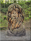 SK3455 : The Green Man, Crich Tramway Village Sculpture Trail by David Dixon