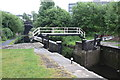 SE2833 : A lock on the Leeds & Liverpool Canal by Roger Templeman