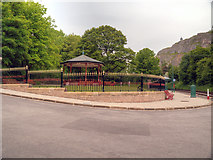 SK3455 : Crich Tramway Village, Victoria Park and Bandstand by David Dixon