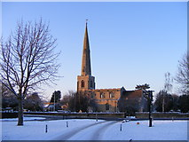 TF1505 : St. Benedict's Church, Glinton, in the winter by Paul Bryan