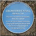 SK3156 : Cromford Canal Plaque - High Peak Junction by David Dixon