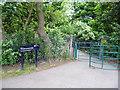 TQ2174 : Palewell Park:  footbridge over Beverley Brook by Dr Neil Clifton