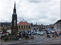 SE6183 : Bikers resting in Helmsley Market Square by Barbara Carr