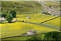 NZ0003 : Buildings and meadows of  Arkengarthdale by Trevor Littlewood