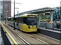 SJ8097 : MediaCityUK Metrolink Station by Graham Hogg
