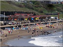 TA0390 : North Sands at Scarborough Looking Towards Scalby Mills by Rob Newman