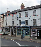 SO2956 : Shops on the south side of High Street, Kington by Jaggery
