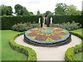 TQ4745 : Flower display for Hever Gardens 50 years by Paul Gillett