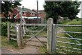 SP9643 : John Bunyan Trail leaves Cranfield by Philip Jeffrey