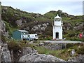 NG7921 : Relocated lighthouse at the Glenelg side of the Kylerhea ferry by Andrew Hill