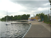 TQ2472 : Wimbledon Park Lake:  Sailing Club by Dr Neil Clifton