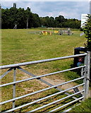 SO2956 : Children's play area, Crooked Well Meadow, Kington by Jaggery