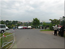 TQ2472 : Reserved car park and an entrance to All England Lawn Tennis and Croquet Club by Virginia Knight