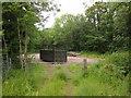 SS9226 : Skip in car park, Allers Wood by Derek Harper