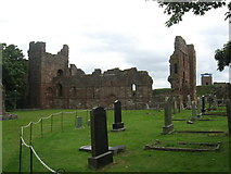 NU1241 : The ruins of Lindisfarne Priory by James Denham