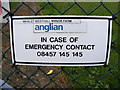 TM4081 : Whalst Westhall Manor Farm Sewerage Works sign by Adrian Cable