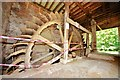 TM0144 : Kersey Mill Complex - Mill wheel by Ashley Dace