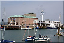 SY6878 : The Pavilion, and old quay station building/ferry terminal by John Stephen