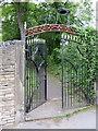 SJ9273 : St Paul's churchyard gate, Macclesfield by John S Turner