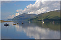NN0973 : Boats at anchor, Loch Linnhe by Nigel Brown
