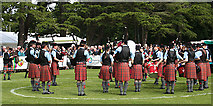 NJ0459 : European Pipe Band Championships 2013 (6) by Anne Burgess
