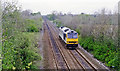 SE4607 : Site of Frickley station, with Diesel locomotive, 1995 by Ben Brooksbank