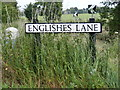 TM3587 : Englishes Lane sign by Adrian Cable