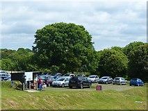 SR9694 : Car park at Bosherston Lily Ponds by Robin Drayton