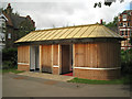 TQ3176 : Lottery-funded toilets and baby-change, Myatt's Fields Park by Robin Stott