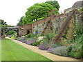 TQ4273 : Herbaceous border in moat, Eltham Palace by David Hawgood