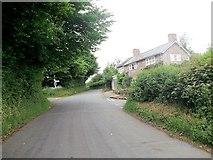 SJ2428 : Crossroads at Croesau Bach by John Firth