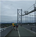 NT1279 : Walking over the Forth Road Bridge  by JThomas