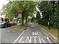 SO0560 : One-way system around The Pavilion, Llandrindod Wells by Jaggery