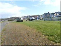 NS2515 : Parking area at Dunure Castle by Ann Cook
