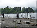 NY2622 : Photographers at work, Derwentwater by Jim Osley