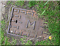 J5263 : Water meter cover, Nendrum by Rossographer