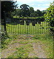 SO0842 : Northern entrance to St Mary's churchyard, Crickadarn by Jaggery