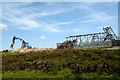 NZ0141 : Demolition of aerial on Collier Law by Trevor Littlewood