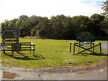 SO1327 : Noticeboards at the northern entrance to Llangorse Common by Jaggery